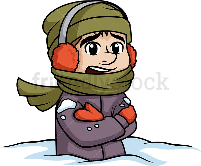 Buried in snow clipart picture transparent library Bundled Up Man Stuck In Snow | Clip Arts in 2019 | Free vector ... picture transparent library