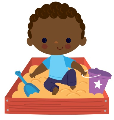 Writing in sand clipart