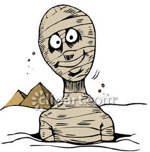 Buried ssand clipart png stock A Mummy Partially Buried In Sand Royalty Free Clipart Picture png stock