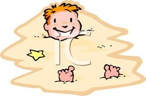 Buried ssand clipart image library stock Boy Buried In the Sand - Royalty Free Clipart Picture image library stock