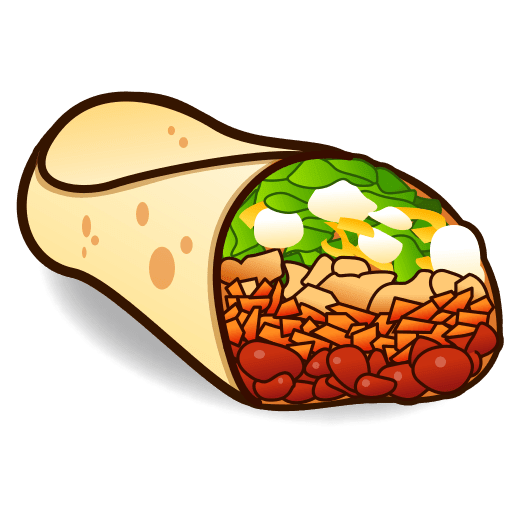Buritos clipart image black and white library Burritos clipart clipart images gallery for free download | MyReal image black and white library