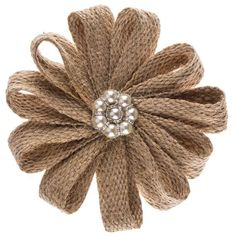 Burlap and flowers clipart