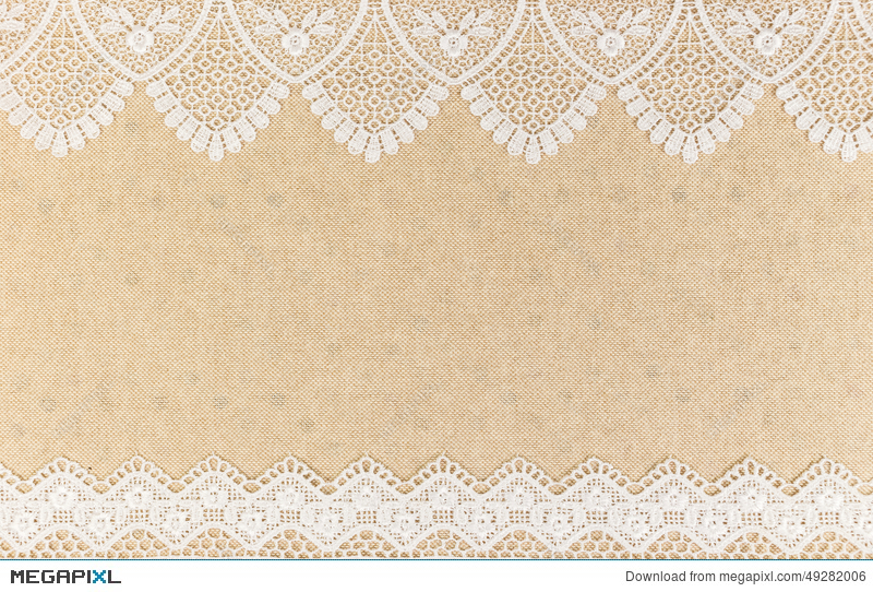 Burlap lace clipart black and white border banner royalty free stock Burlap Texture With White Lace On Wooden Table Background Design ... banner royalty free stock