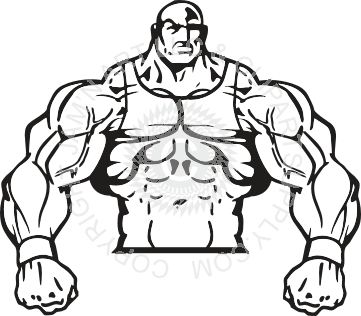 Burly clipart graphic free download Burly wrestling man graphic free download