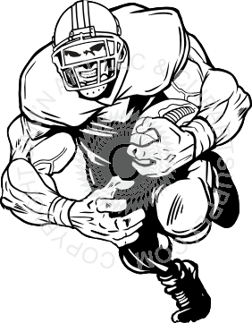Burly clipart graphic transparent download Burly football player running graphic transparent download