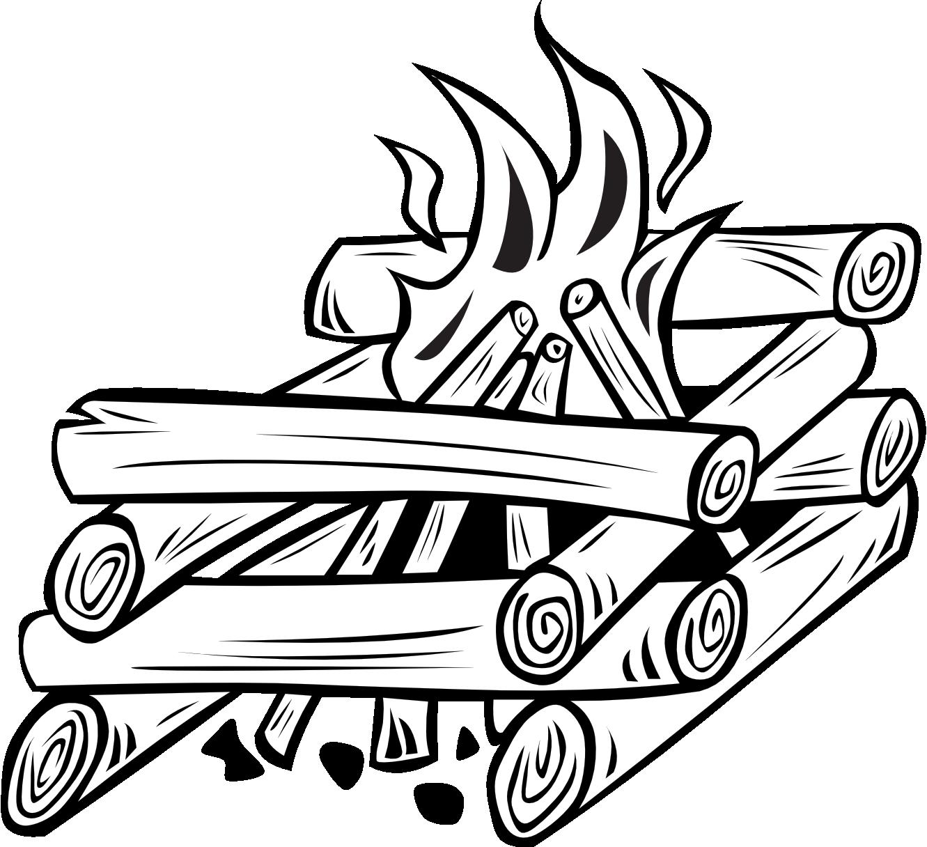 Recipe book clipart free black and white clip black and white download Black And White Campfire Clipart | Clipart Panda - Free Clipart Images clip black and white download
