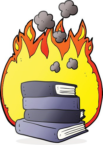 Burning books clipart jpg royalty free library Cartoon Stack of Books Burning premium clipart - ClipartLogo.com jpg royalty free library