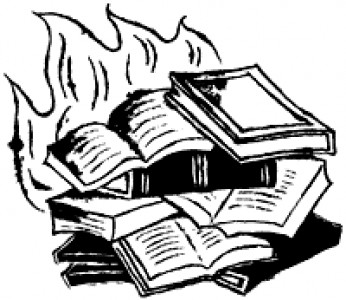 Burning books clipart banner royalty free Books Burning Drawing - Books Library banner royalty free