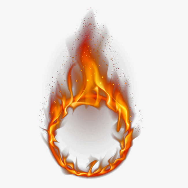 Burning flame clipart black and white Download Free png Hand Painted Flame Effect Material, Flame Clipart ... black and white