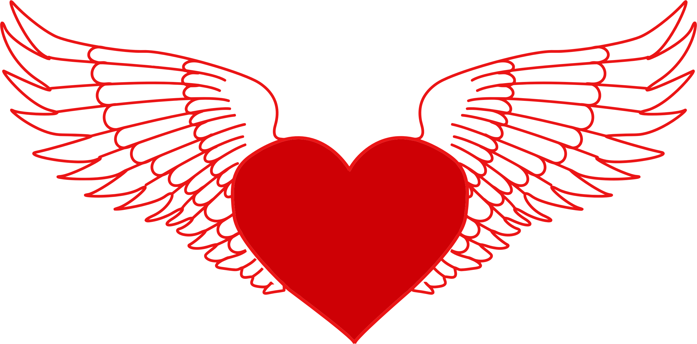 Clipart heart with wings