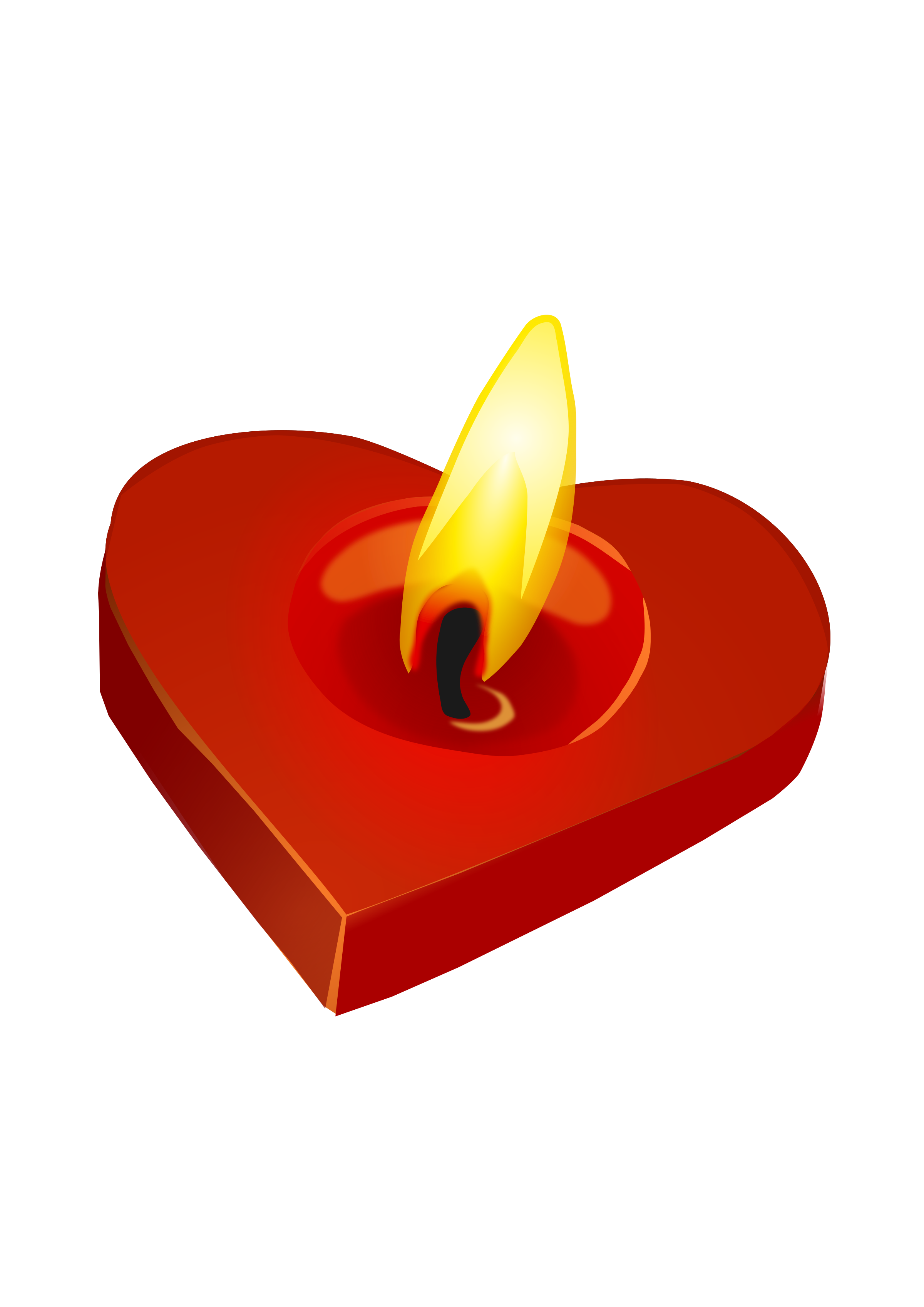 Burning heart clipart png black and white download Clipart - Valentine's Candle png black and white download