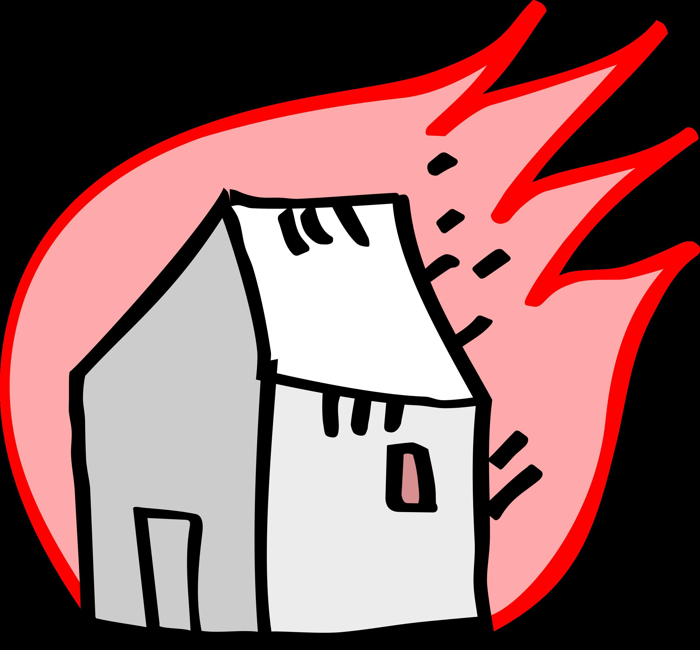 Burning house clipart clip Clipart - Solea's burning house (graffiti) clip