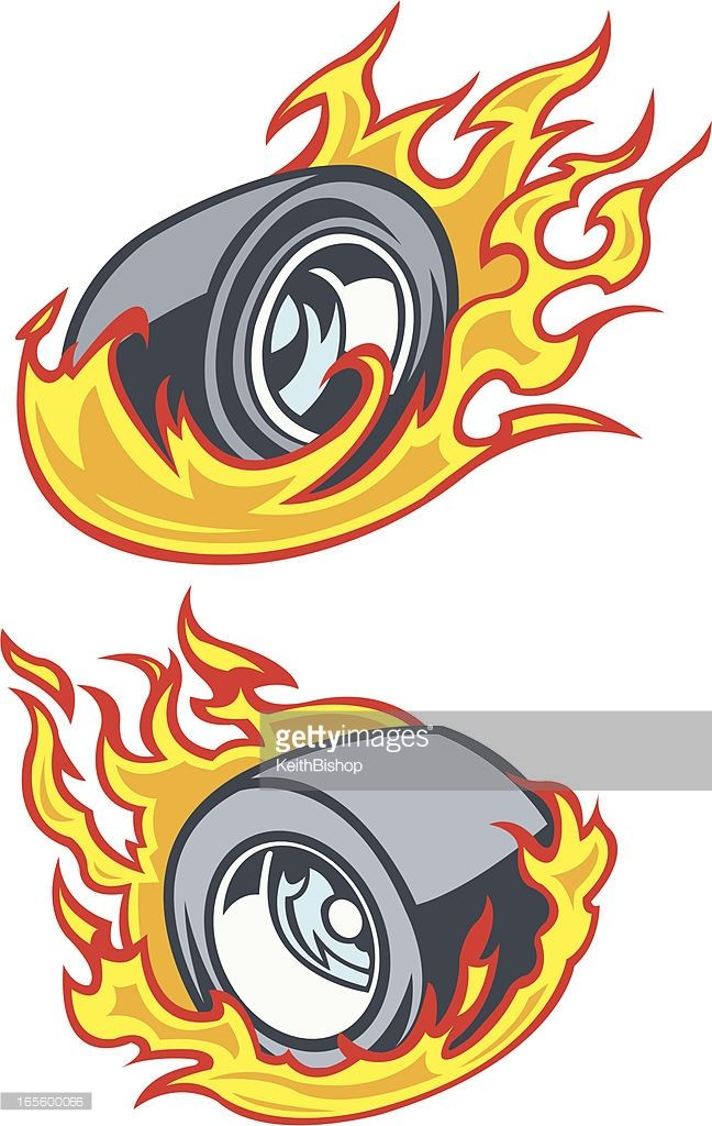 Burning rubber clipart png black and white library Vector Art : Race Car Tire - Burning Rubber | graffiti tub | Race ... png black and white library