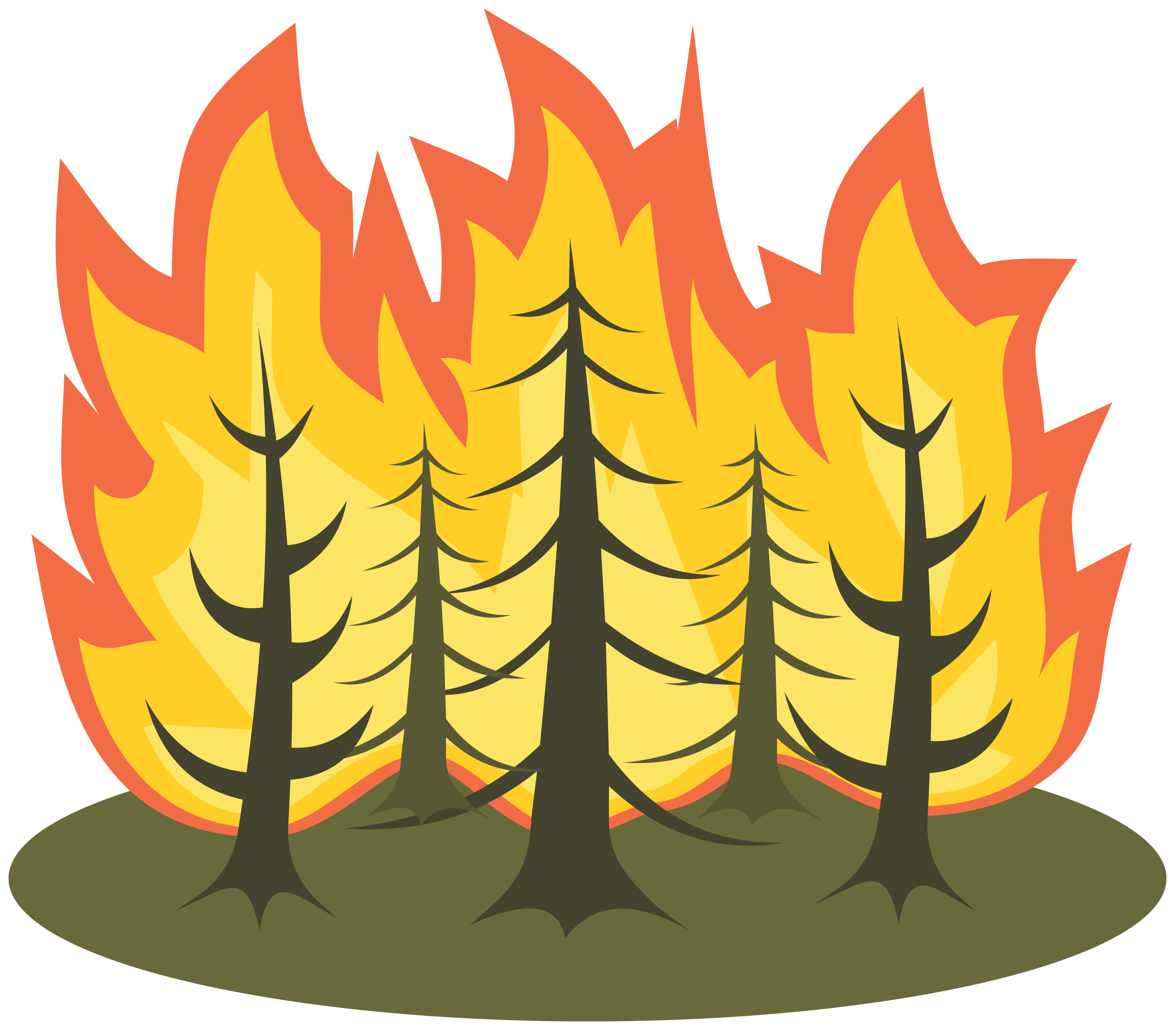 Tree on fire clipart png library library Forest Fire Clipart Group (55+) png library library