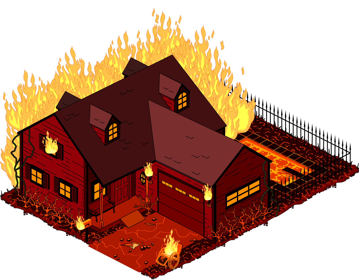 Burnt down house clipart image black and white PNG House On Fire Transparent House On Fire.PNG Images. | PlusPNG image black and white