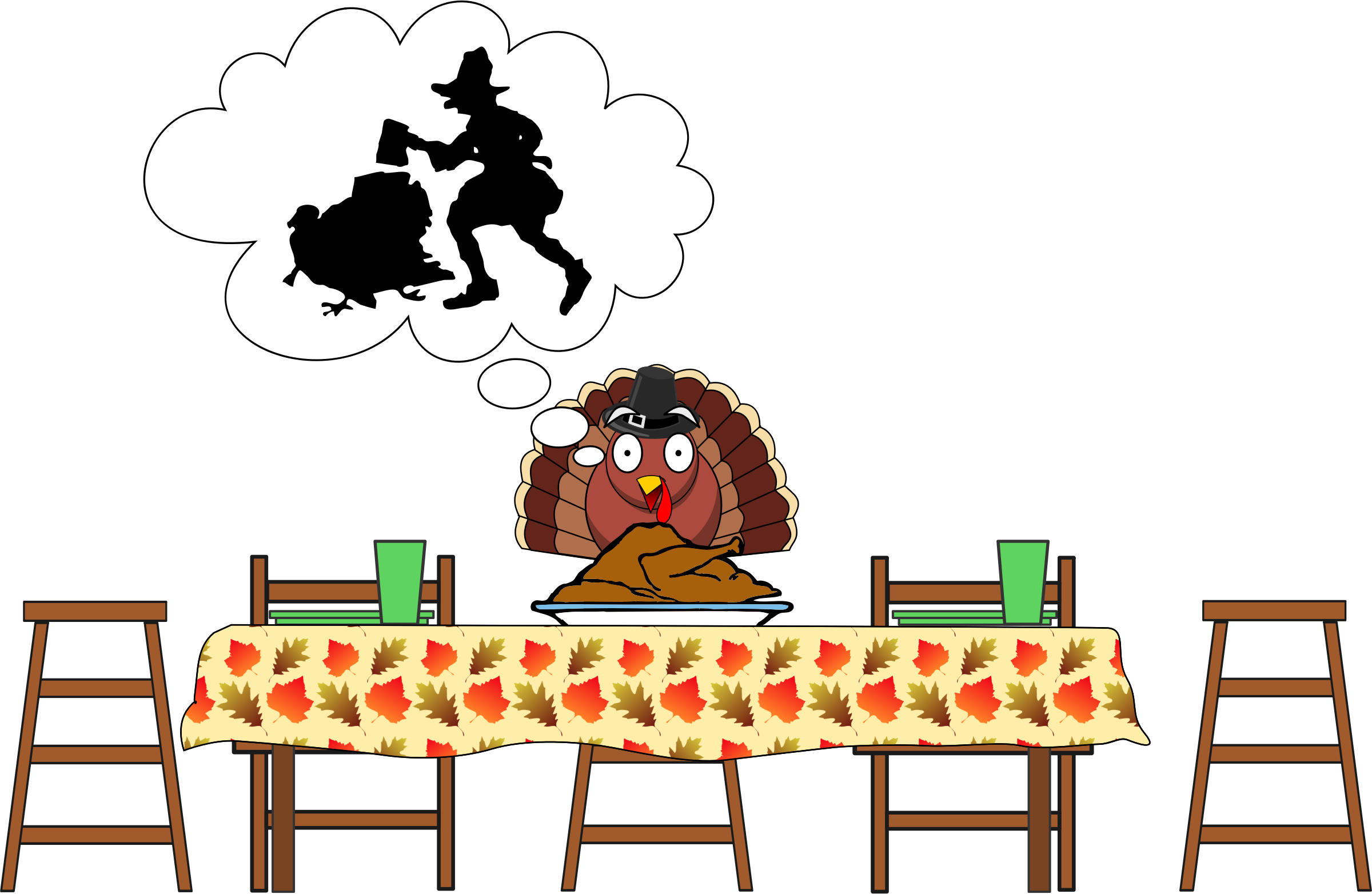 Happy turkey clipart image transparent download Scared Thanksgiving Turkey – Thanksgiving Blessings image transparent download