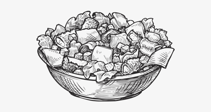 Burritos and bowls clipart vector library stock Salad Clipart Burrito Bowl - Salad Sketch Png - Free Transparent PNG ... vector library stock