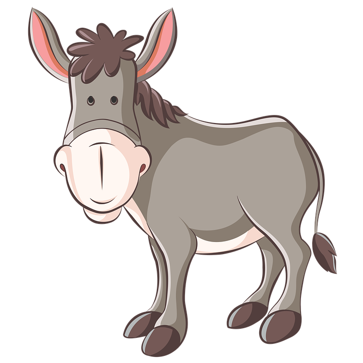 Burro clipart vector black and white stock Donkey clipart burro - 86 transparent clip arts, images and pictures ... vector black and white stock
