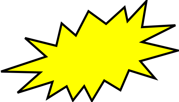 Burst clipart images graphic free Yellow Burst Clip Art at Clker.com - vector clip art online, royalty ... graphic free