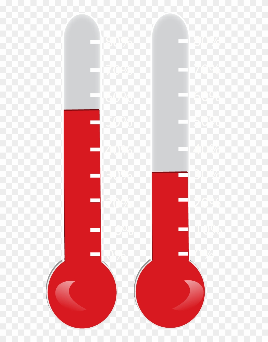 Bursting thermometer clipart vector royalty free library Online Fundraising Thermometer - Thermometer Clipart Without ... vector royalty free library