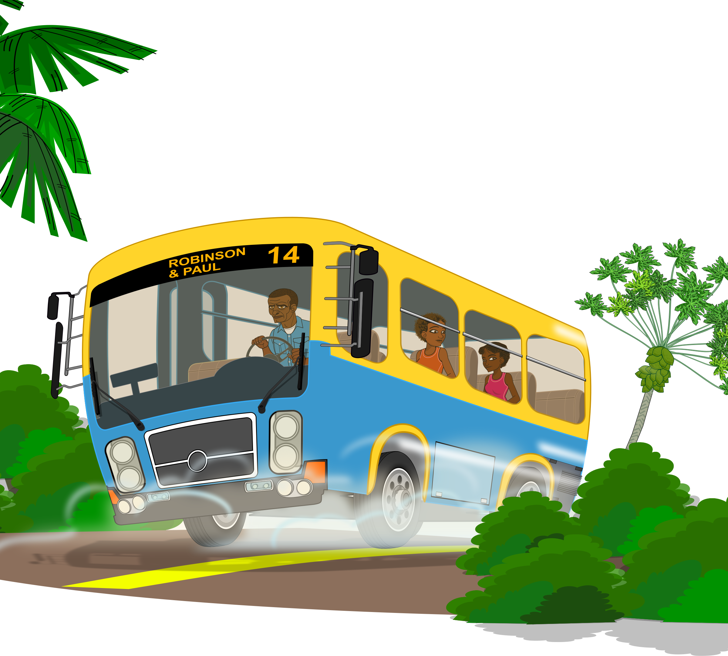 Bus and car clipart svg library stock Clipart - Island school bus svg library stock