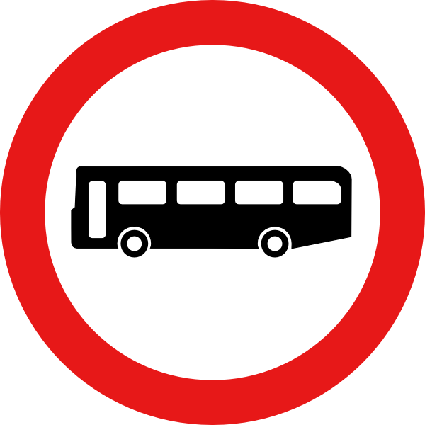 Bus and car clipart graphic Bus Road Sign Clip Art at Clker.com - vector clip art online ... graphic