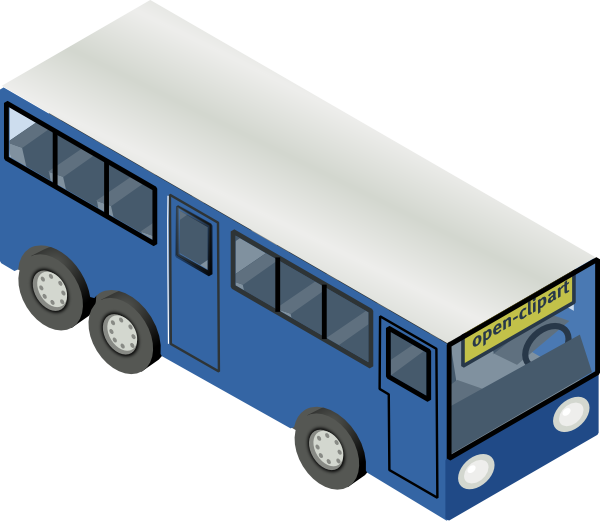 Bus and car clipart svg transparent library Blue Bus Clip Art at Clker.com - vector clip art online, royalty ... svg transparent library