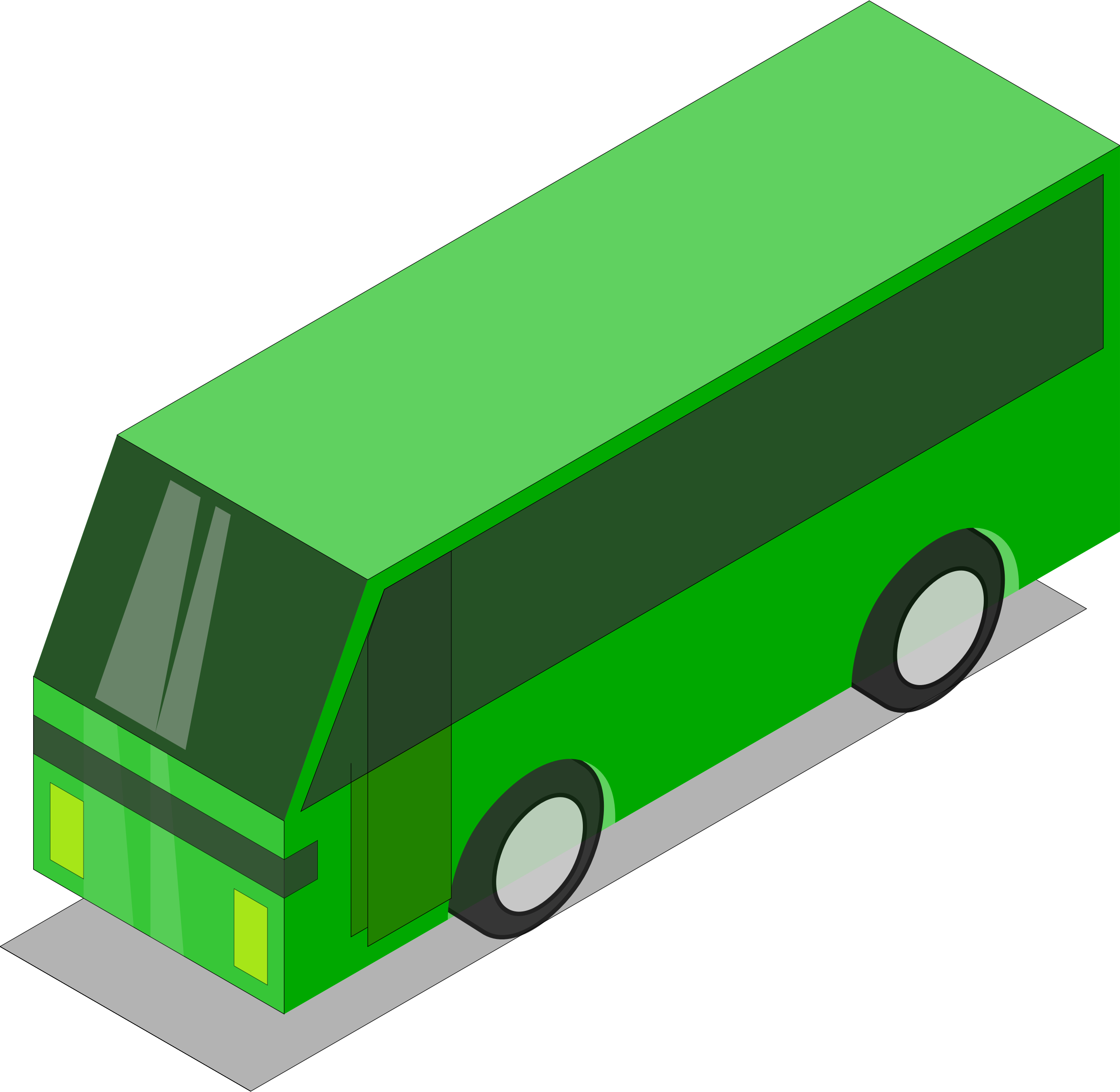 Bus car clipart png free Clipart - Green bus png free