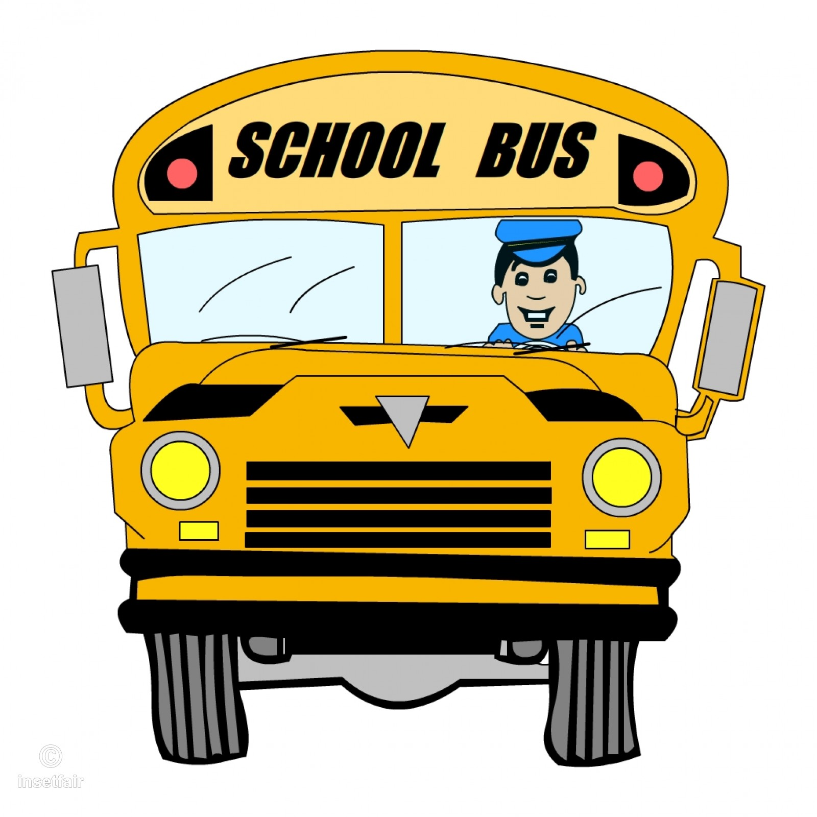Bus driver clipart clip art black and white library Cartoon school bus with driver clipart png image clip art black and white library