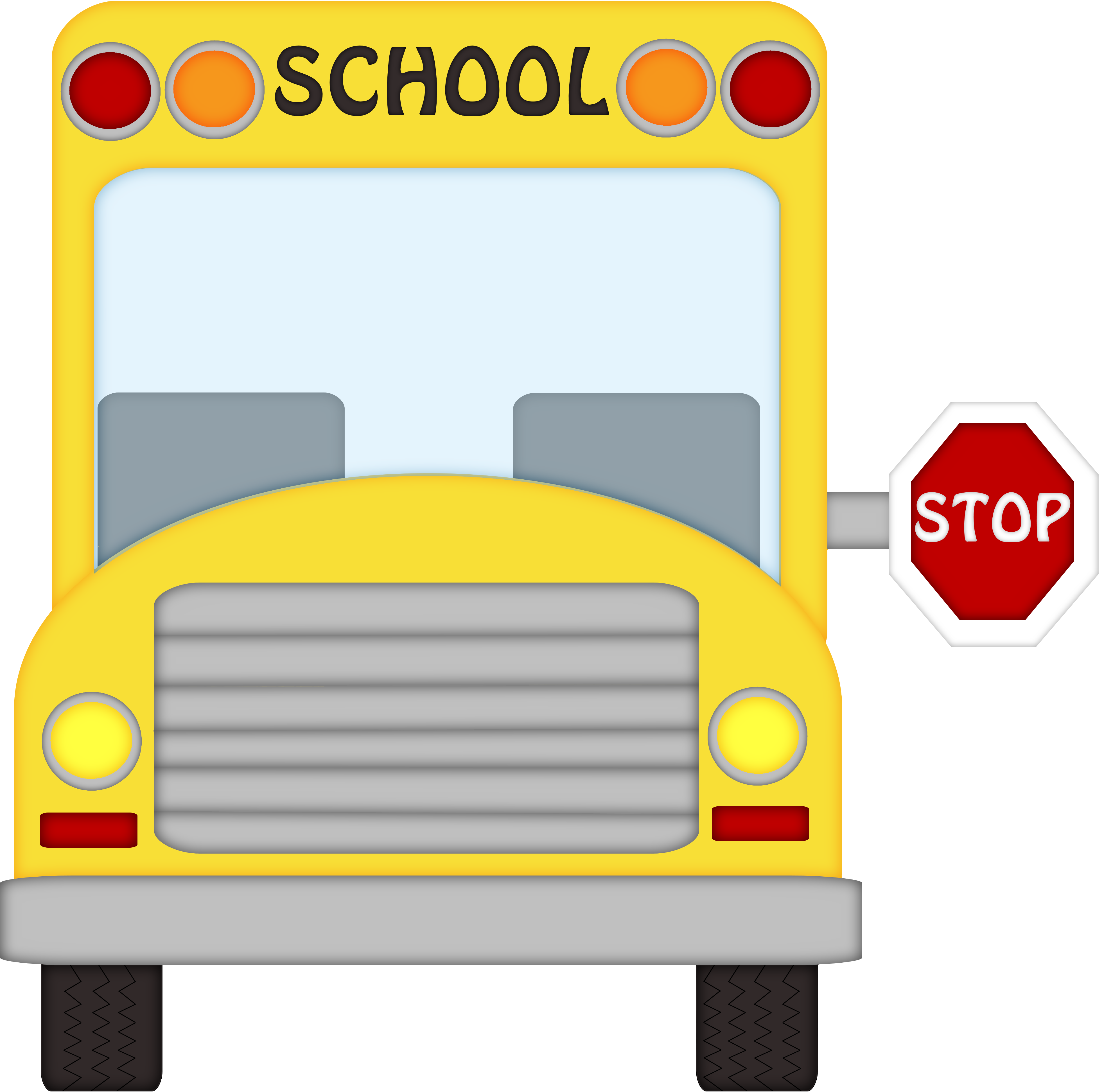 Bus front clipart clipart black and white stock school bus front clipart craft projects transportations - WikiClipArt clipart black and white stock