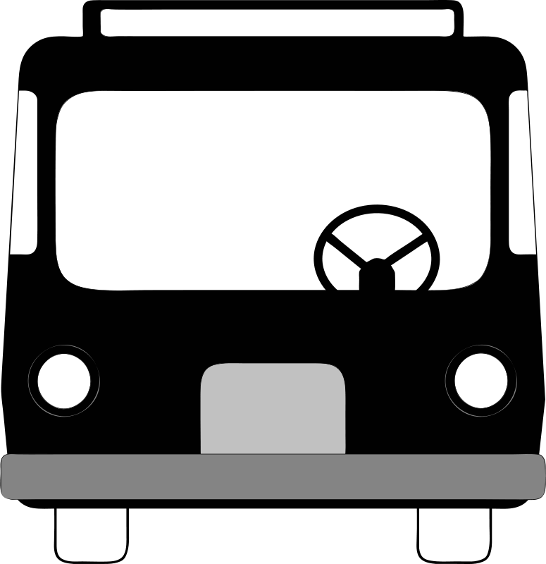 Bus front clipart picture black and white stock Free Clipart: Bus front view | Anonymous picture black and white stock