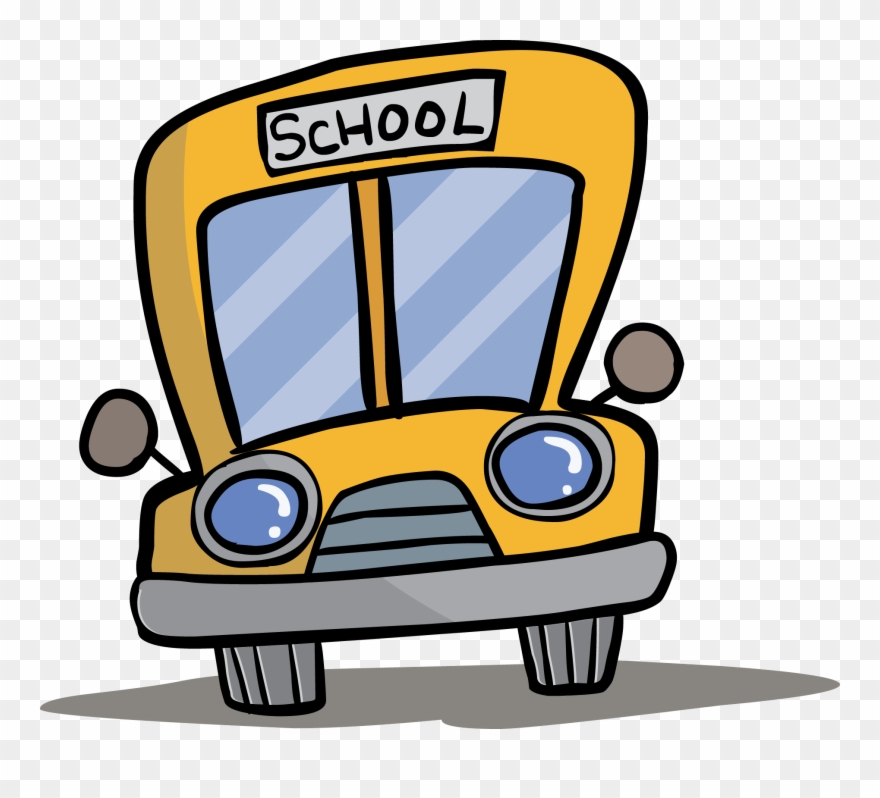 Bus front clipart image black and white stock School Bus Clip Art - Front Of Cartoon Bus - Png Download (#1233080 ... image black and white stock