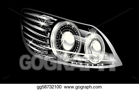 Bus headlamp clipart clip library stock EPS Illustration - Headlight . Vector Clipart gg58732100 - GoGraph clip library stock