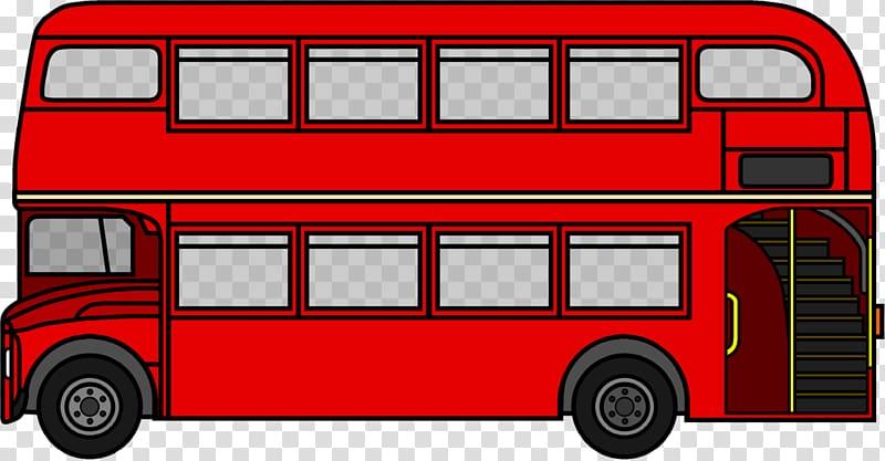 Bus line clipart jpg royalty free library Double-decker bus AEC Routemaster London , bus transparent ... jpg royalty free library
