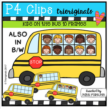 Bus with windows clipart png transparent library Kids on the Bus 10 Frames (P4 Clips Trioriginals Clip Art) | Clip ... png transparent library