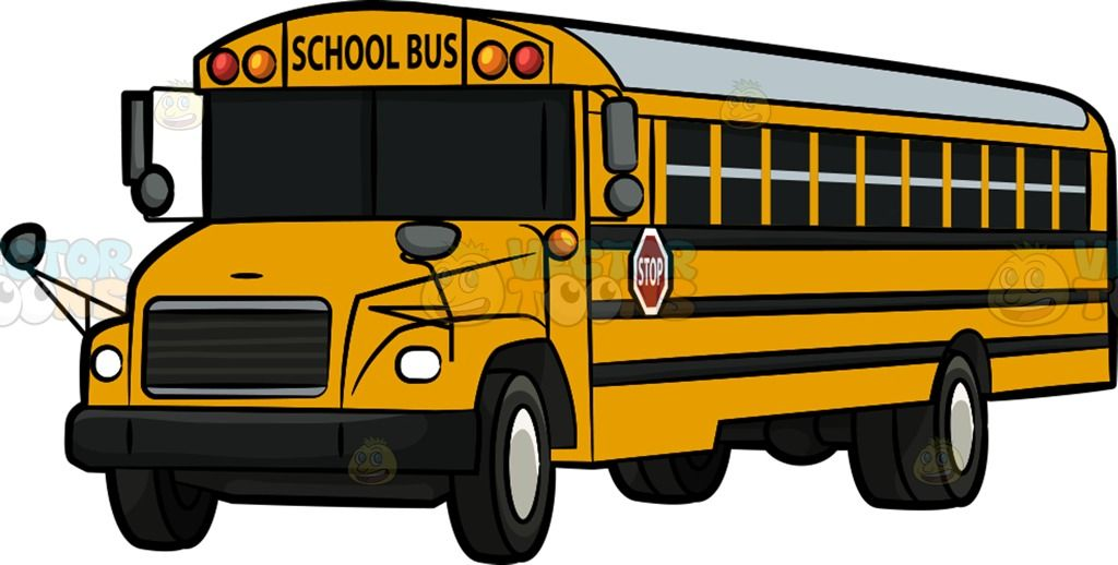 Bus with windows clipart jpg library download A Traditional Yellow School Bus : A standard school bus with yellow ... jpg library download