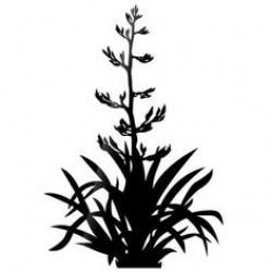 Bush silhouette clipart clipart black and white library Bush silhouette at getdrawings. Bushes clipart flax | Flax in 2019 ... clipart black and white library