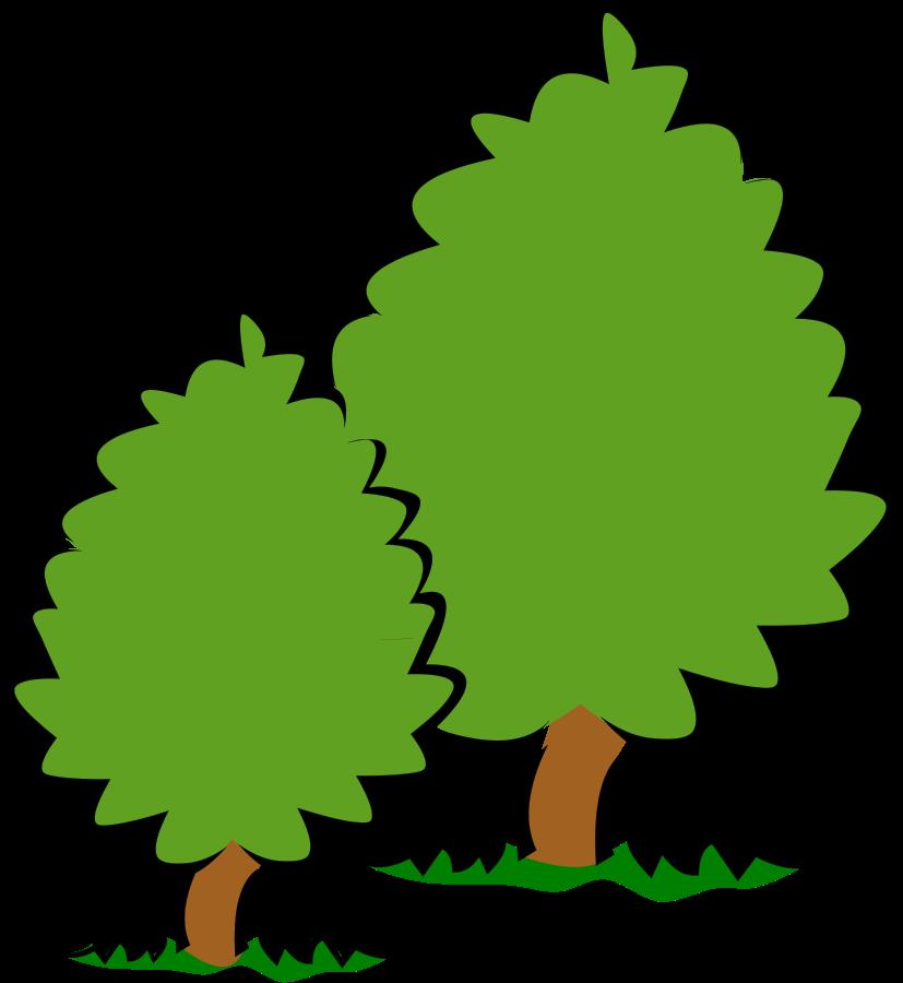 Bush tree clipart png black and white Bush Tree · ClipartHot png black and white