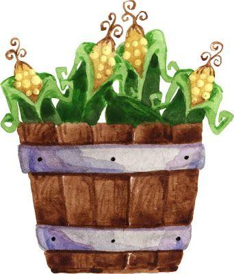 Bushel of fun clipart image library Bushel of corn clipart | ღ Clipart ღ | Farm gardens, Green beans ... image library