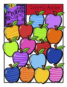 Bushel of fun clipart svg free Colorful Apples {Creative Clips Digital Clipart} | Classroom Ideas ... svg free