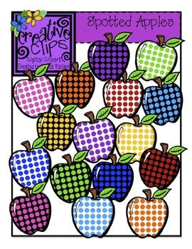 Bushel of fun clipart jpg transparent library Spotted Apples {Creative Clips Digital Clipart} | Fonts & Clipart ... jpg transparent library