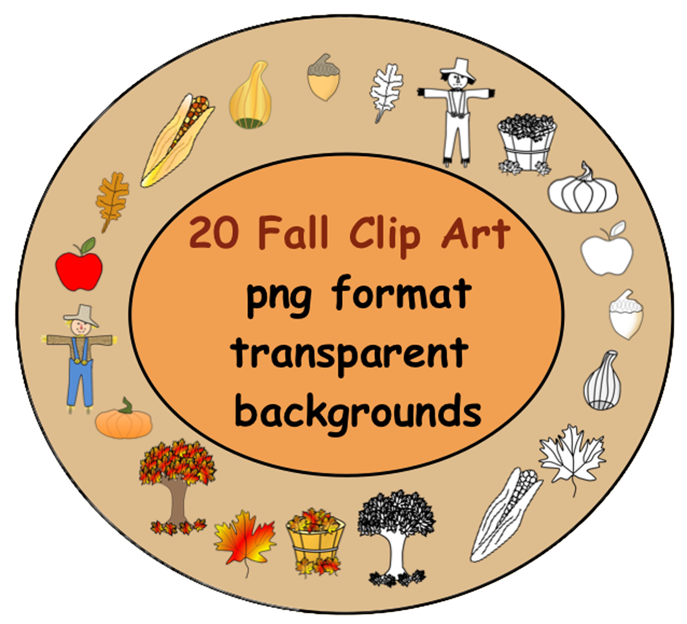 Bushel of pumpkins clipart clip art royalty free stock 35 Fall Clip Art in Png format with transparent backgrounds ... clip art royalty free stock