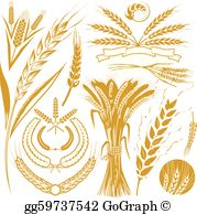 Bushel of wheat clipart graphic black and white Wheat Clip Art - Royalty Free - GoGraph graphic black and white