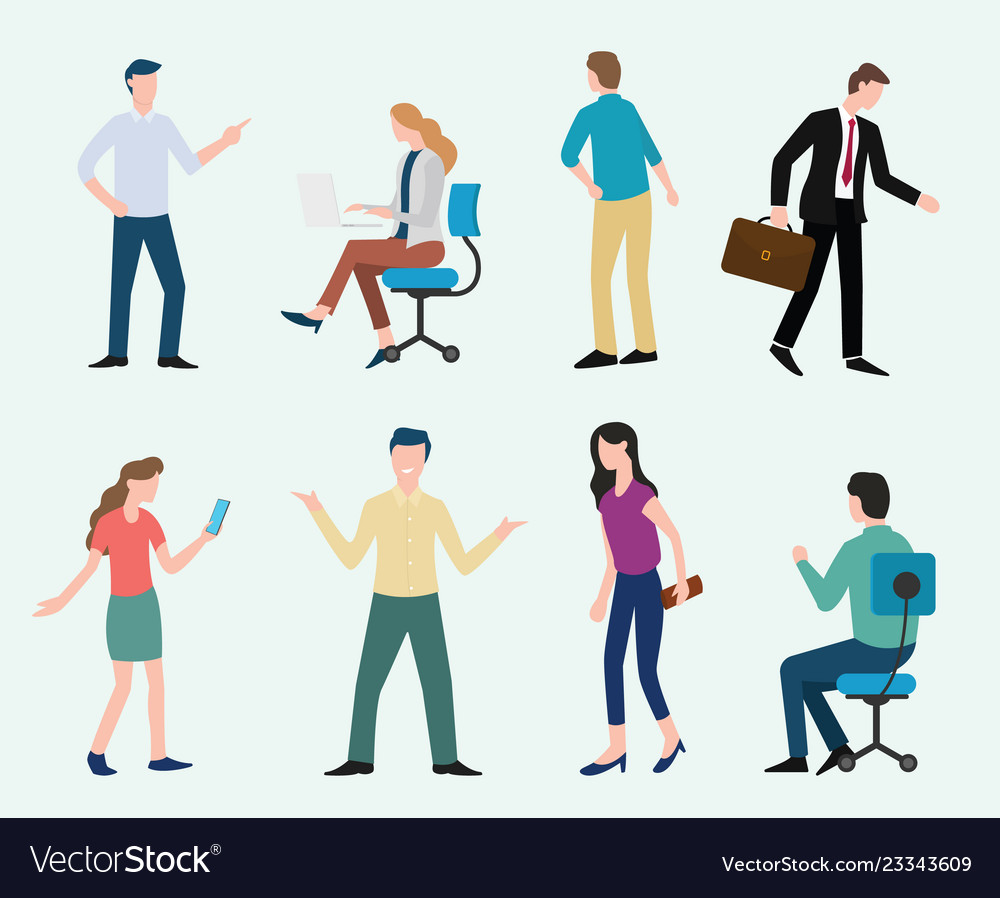 Business man modern clipart png black and white download Business man and woman set collection with modern png black and white download