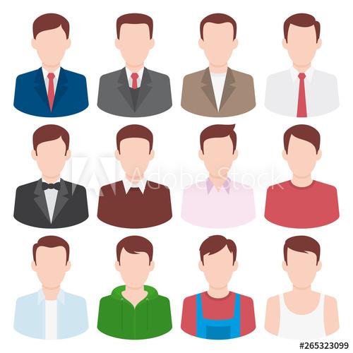 Business man modern clipart svg freeuse Colorful vector icons set of business men. Modern flat style design ... svg freeuse
