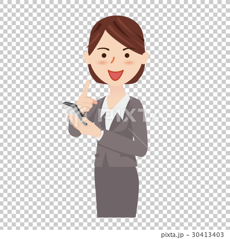Business person with smartphone clipart jpg free library Business woman smartphone - Stock Illustration [30413403] - PIXTA jpg free library