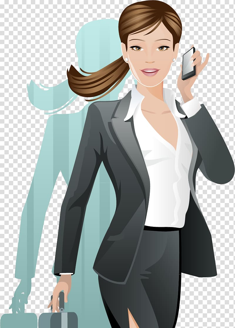 Business person with smartphone clipart picture free stock Woman holding smartphone art, Woman Illustration, White-collar ... picture free stock