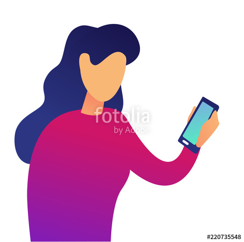 Business person with smartphone clipart graphic transparent Young business woman using smartphone vector illustration. Social ... graphic transparent
