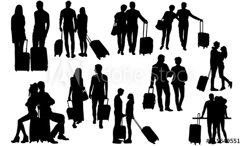 Business trip clipart vector transparent Travelling Couple Silhouette | Corporate Ceo Business Vector ... vector transparent