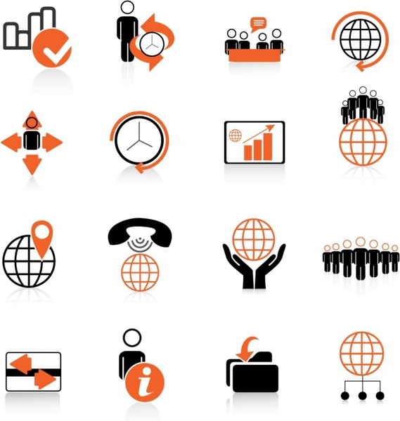 Business vector clipart image free stock Global Business Icons Free vector in Adobe Illustrator ai ( .AI ... image free stock